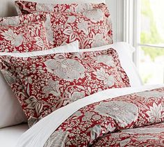 Louisa Bird Duvet Cover & Sham #potterybarn