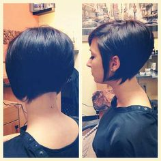 Back View Of Short Hairstyles | Here is the back view of bob haircut . It not only looks stylish from ...
