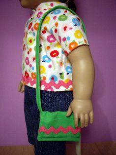 . doll cloth, craft, girl doll, americangirl, ag dolls, purses, american girls