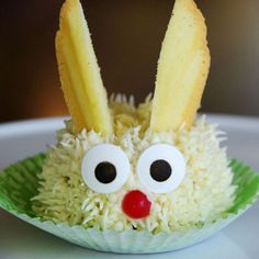 Adorable Bunny Cupcakes This darling cupcake bunny is a wonderful addition to your Easter table or spring party.