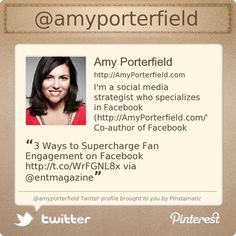 Highly recommend you follow @amyporterfield's Twitter profile courtesy of @Pinstamatic (http://pinstamatic.com)