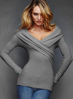 Victoria Secret Stretch Pointelle Sweater 65