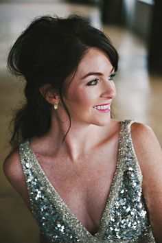 glam bride // photo by Nicole Berrett, styling by The Beauty & The Blush // http://ruffledblog.com/fuchsia-holiday-celebration