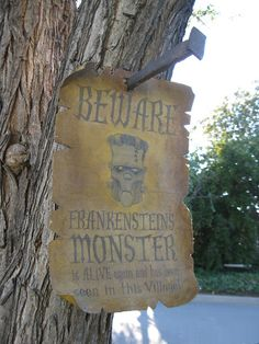 how to make Cool signs #halloween #props