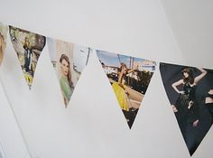 Hanging Triangle Banner | 35 New Uses For Old Newspapers And Magazines