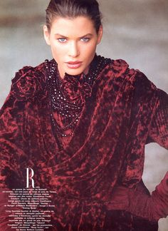 Vogue France, August 1987  Model: Carre Otis