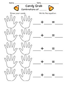 F is for First Grade: Addition Combinations  I like the idea, but would lose the worksheet