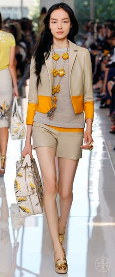 Tory Burch shows us why she's the accessories queen at @Mercedes-Benz Fashion Week with her Spring 2013 collection