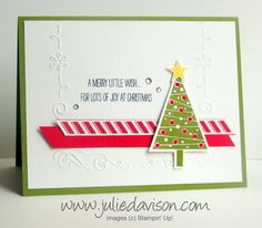 Stampin' Up! Festival of Trees Christmas Card from the 2014 Holiday Catalog #stampinup www.juliedavison.com