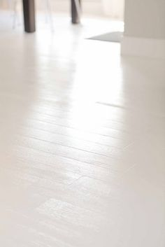 White hardwood floors - how-to