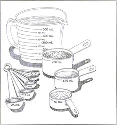 Cups, tsp, tbsp