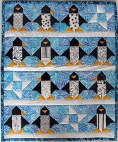 13 insane penguins. (Wish I had a small boy to sew for!)