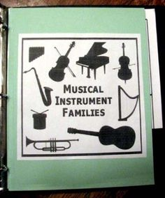 Free Musical Instrument Families Lapbook