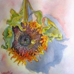 watercolor flower, autumn falls