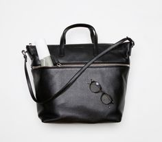 Jil Sander Bag / Thom Browne Glasses
