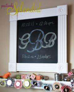 diy frame, bathroom mirrors, chalkboards, craft, chalkboard signs, toy room, sewing rooms, frame chalkboard, chalkboard tutori