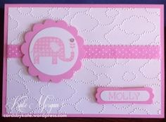 Stampin' Up! Baby Girl Card - cardsbykate.wordpress.com