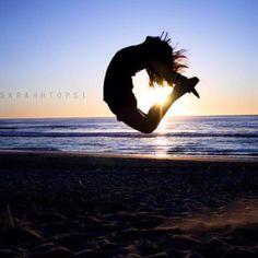 gymnastics beach pictures