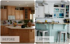 i have been drooling over this kitchen re-do from Jen at Tatertots and Jello knows how to #springintothedream   LOVE the fresh colors!!!