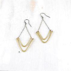 fashion, gorg doubl, doubl chevron, chevron earring, jewelri