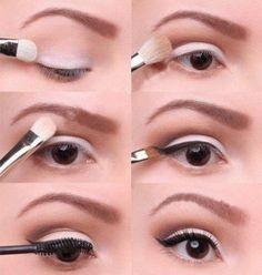 marilyn monroe inspired eye makeup marilyn monroe, eyeshadow, cat eyes, beauti, everyday makeup, everyday look, light, natural looks, eye makeup tutorials