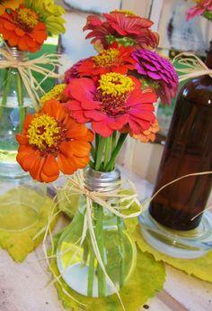 What a creative idea! A light bulb bud vase.