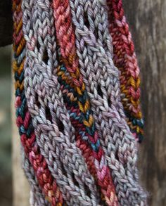 Sugar Stick Scarf: free knitting pattern