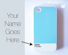 iphone 4 case - all colortone custom case - put your name on it. $17.99, via Etsy.