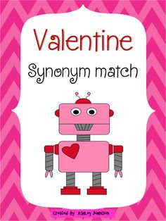 This synonym match is a great activity for whole or small groups and literacy centers. This is also bundled in my Valentine's Day unit.  $