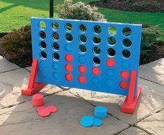 Giant Outdoor Games DIY | Giant Four In A Row Garden Game - Ebeez.co.uk