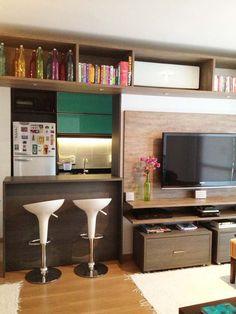 Kitchen behind