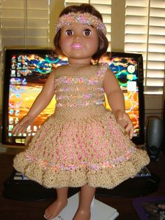 Ladyfingers - AG doll - Basic Easter Dress with Variations