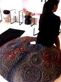 #artistic #textures and materials, pouff #design
