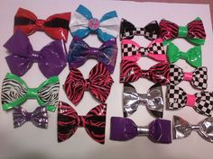All different kinds of bows