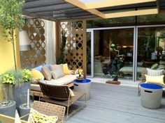 Outdoor Terrace at the 2012 ELLE DECOR Modern Life Concept House. Designed by Michael Tavano.