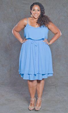 Light, crinkled crepe dress. SWAK