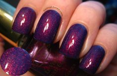 hairnailsand makeup, nail polish, style, colors, purple nails, beauti, clarin 230, bottles, awesom nail