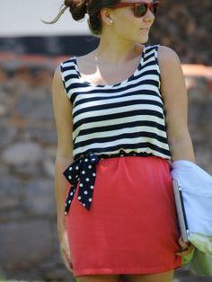 carolinagarciaipserandco Outfit   Primavera 2012. Combinar Vestido Rojo oscuro Blanco, Cómo vestirse y combinar según carolinagarciaipserandco el 19-6-2012