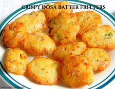 This fritters are prepared with leftover dosa batter. It's a nice transition to the usual idly and dosa. They are quick, easy to make, deep-fried, finger licking savory that goes good for evening snack to munch with a hot cup of tea.