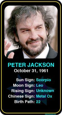 Celeb #Scorpio birthdays: Peter Jackson's astrology info! Sign up here to see more: https://www.astroconnects.com/galleries/celeb-birthday-gallery/scorpio?start=30  #astrology #horoscope #zodiac #birthchart #natalchart #peterjackson #lordoftherings