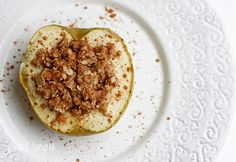 Delightfully Baked Apples - Like little individual apple crisps without all the added fuss of cutting and peeling the apples.
