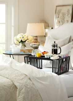 Celebrate mom with breakfast in bed.
