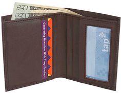 The Vegan Collection Men's National Brown Bi-Fold Wallet