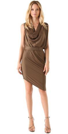 Belted Drape Dress