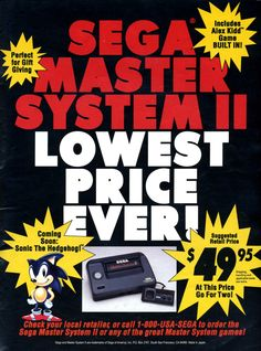 Sega Master System Lowest Price Ever!