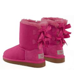 satin bow ugg boots