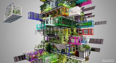 Repurposed shipping containers may be building blocks for modular vertical urban farms