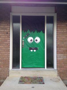 My Halloween door monster.  3$