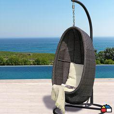 Mi terraza perfecta on pinterest saint tropez metals for Silla huevo colgante