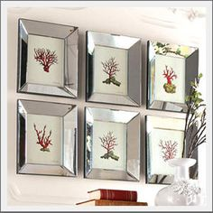 Mirror-framed art